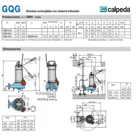 CALPEDAGQGM6-21 1.5HP 380